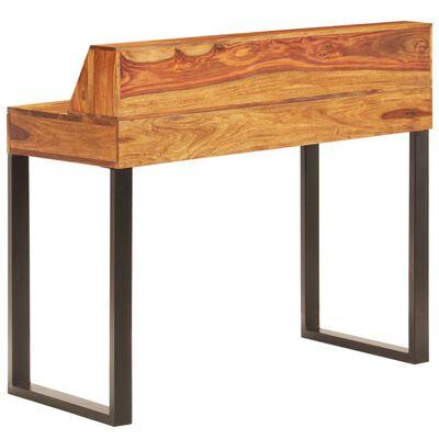 vidaXL Psací stůl 110 x 50 x 94 cm masivní sheesham a ocel