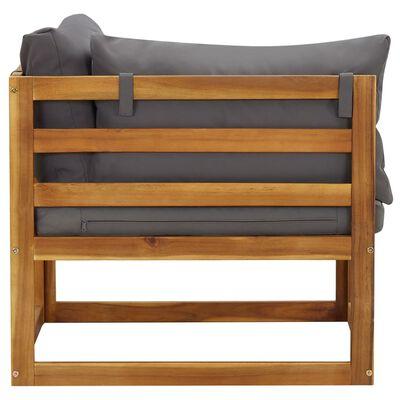 vidaXL 3dílná zahradní sedací souprava s poduškami masivní akácie,