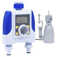 vidaXL Elektronické zavlažovací hodiny duální výstup dešťový senzor