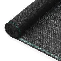 vidaXL Tenisová zástěna černá 1,6 x 100 m HDPE