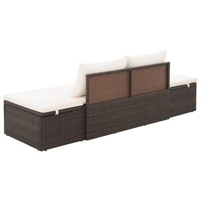 vidaXL Zahradní postel hnědá 195 x 60 cm polyratan