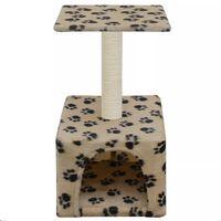 vidaXL Škrabadlo pro kočky sisalové sloupky 55 cm béžové s potiskem