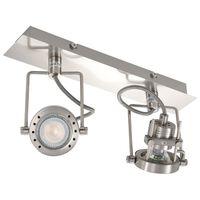 vidaXL 2směrné bodové světlo stříbrné GU10