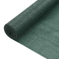 vidaXL Stínící tkanina zelená 1,5 x 25 m HDPE 75 g/m²