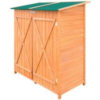 vidaXL Dřevěná zahradní kůlna na nářadí s velkým úložným prostorem