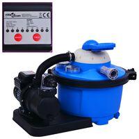 vidaXL Pískové filtrační čerpadlo s časovačem 450 W 25 l