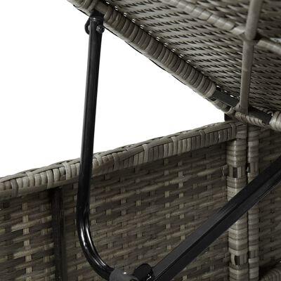 vidaXL 3dílná zahradní lehátka s čajovým stolkem polyratan šedá