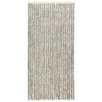 vidaXL Insect Curtain Light and Dark Grey 100x220 cm Chenille