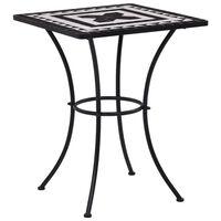 vidaXL Mozaikový bistro stolek černobílý 60 cm keramika