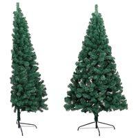 vidaXL Umělý vánoční půl stromek se stojanem zelený 180 cm PVC