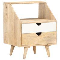 287884 vidaXL Bedside Cabinet 40x30x50 cm Solid Mango Wood