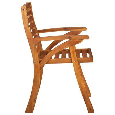 vidaXL Zahradní židle 2 ks masivní akáciové dřevo