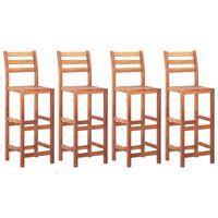 vidaXL Barové židle 4 ks masivní akáciové dřevo