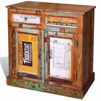 vidaXL Příborník 2 zásuvky a dvířka vintage masivní recyklované dřevo