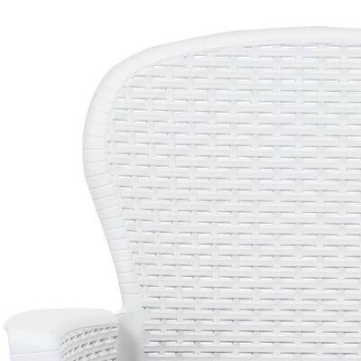 vidaXL 3dílný bistro set bílý plastový ratanový design