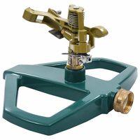 vidaXL Rotační zavlažovač zelený 21 x 22 x 13 cm kov
