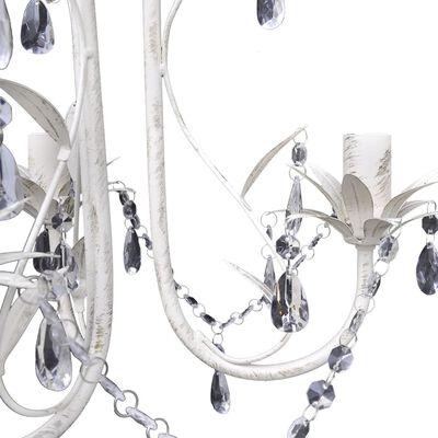 vidaXL Křišťálové lustry 4 ks elegantní bílé