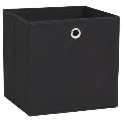 vidaXL Úložné boxy 4 ks netkaná textilie 32 x 32 x 32 cm černé