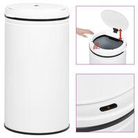 vidaXL Odpadkový koš s automatickým senzorem 60 l uhlíková ocel bílý