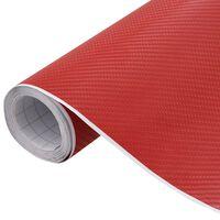 vidaXL Fólie na auto 4D matná červená 200 x 152 cm