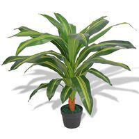 vidaXL Umělá rostlina dracéna s květináčem 90 cm zelená