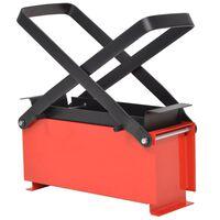 vidaXL Lis na výrobu papírových briket ocel 34x14x14 cm černo-červený