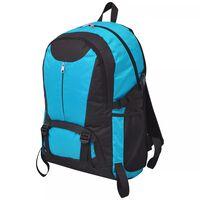 vidaXL Outdoorový batoh 40 l černo-modrý