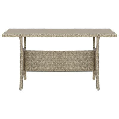 vidaXL Zahradní stůl šedý 130 x 70 x 66 cm polyratan