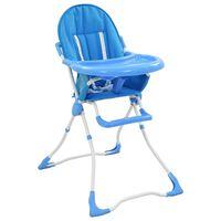 vidaXL Dětská jídelní židlička modro-bílá