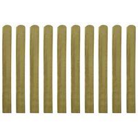 vidaXL 30 ks impregnované plotovky dřevo 100 cm