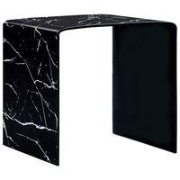 vidaXL Konferenční stolek černý mramor 50 x 50 x 45 cm tvrzené sklo