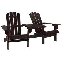 vidaXL Zahradní židle Adirondack masivní jedlové dřevo hnědé