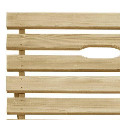vidaXL Zahradní lehátko impregnované borové dřevo