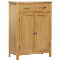 vidaXL Botník 76 x 37 x 105 cm masivní dubové dřevo