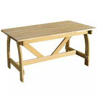 vidaXL Zahradní stůl 150 x 74 x 75 cm impregnované borové dřevo