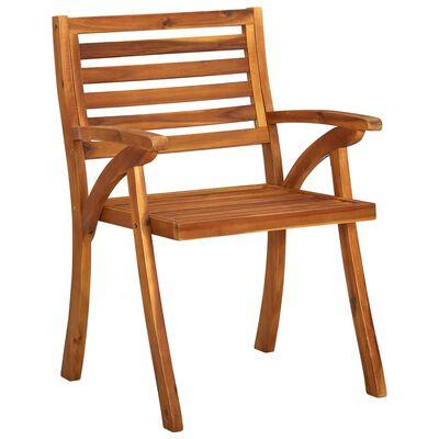 vidaXL Zahradní židle 3 ks masivní akáciové dřevo