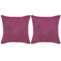 vidaXL Sada polštářů 2 ks velur 45 x 45 cm růžové