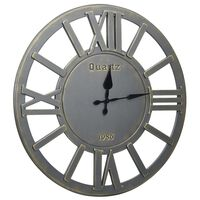 vidaXL Nástěnné hodiny šedé 60 cm MDF
