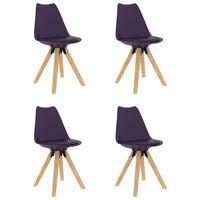 vidaXL Jídelní židle 4 ks šeříkové