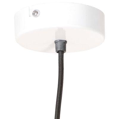 vidaXL Industriální závěsné svítidlo 25 W bílé kulaté 19 cm E27