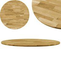 vidaXL Stolní deska z masivního dubového dřeva kulatá 23 mm 500 mm