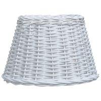 vidaXL Stínidlo na lampu proutěné 38 x 23 cm bílé