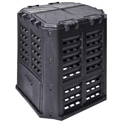 vidaXL Zahradní kompostér černý 68,9 x 68,9 x 83,9 cm 360 l
