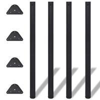 4 výškově nastavitelné stolové nohy 1100 mm černé