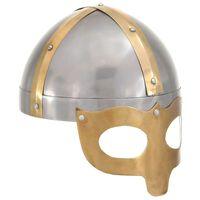 vidaXL Vikingská přilba pro LARPy replika stříbro ocel