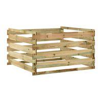 vidaXL Laťkový zahradní kompostér 120x120x70 cm impregnované borovice