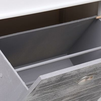 vidaXL Botník šedý 50 x 28 x 98 cm dřevo pavlovnie