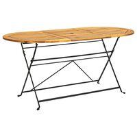 vidaXL Zahradní stůl 160 x 85 x 74 cm masivní akáciové dřevo oválný