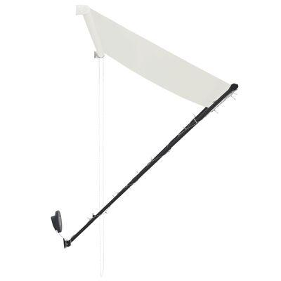 vidaXL Zatahovací markýza s LED světlem 400 x 150 cm krémová, Cream