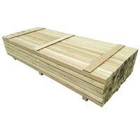 vidaXL 96 ks plotové sloupky impregnovaná borovice 6 x 6 x 240 cm